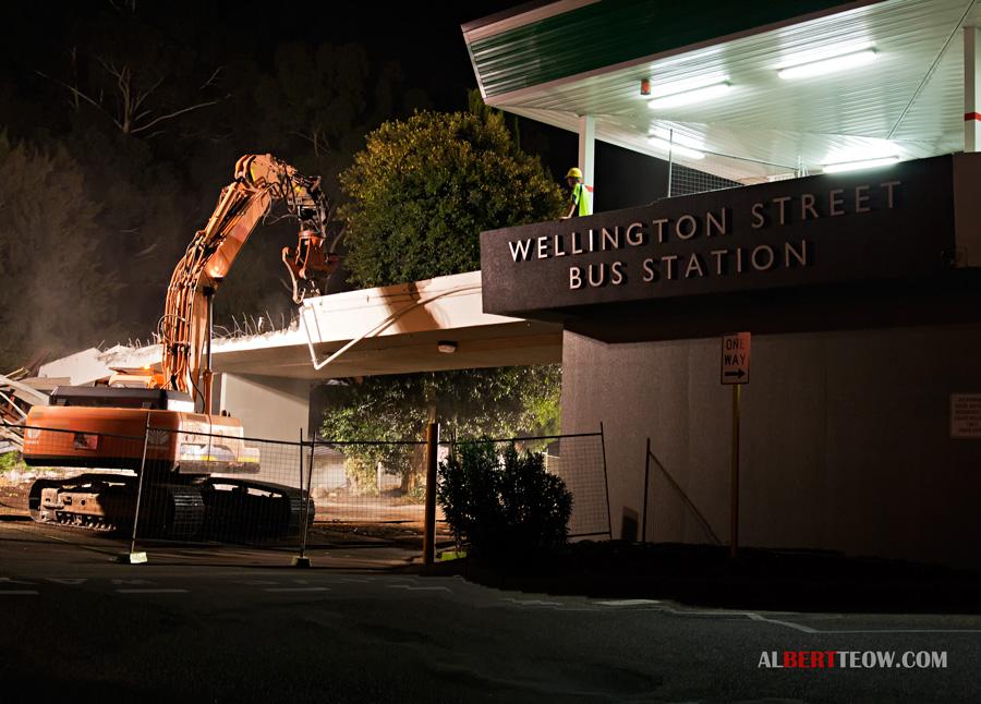 Wellington Street Bus Station Ramp Demolition
