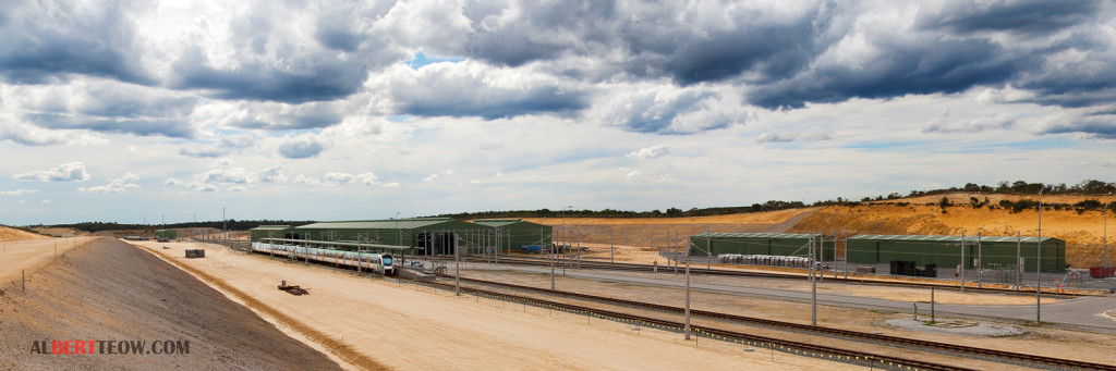 Nowergup Depot under construction
