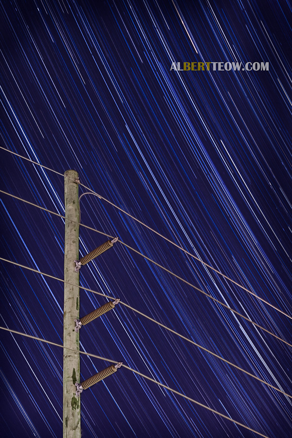 Star Trail & Power Lines