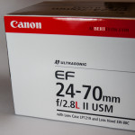 Canon 24-70mm f/2.8 II L Lens Box